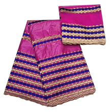 african embroidery fabric cotton bazin riche getzner brocade beaded lace diy nigerian gele headtie 5+2 yards/lot