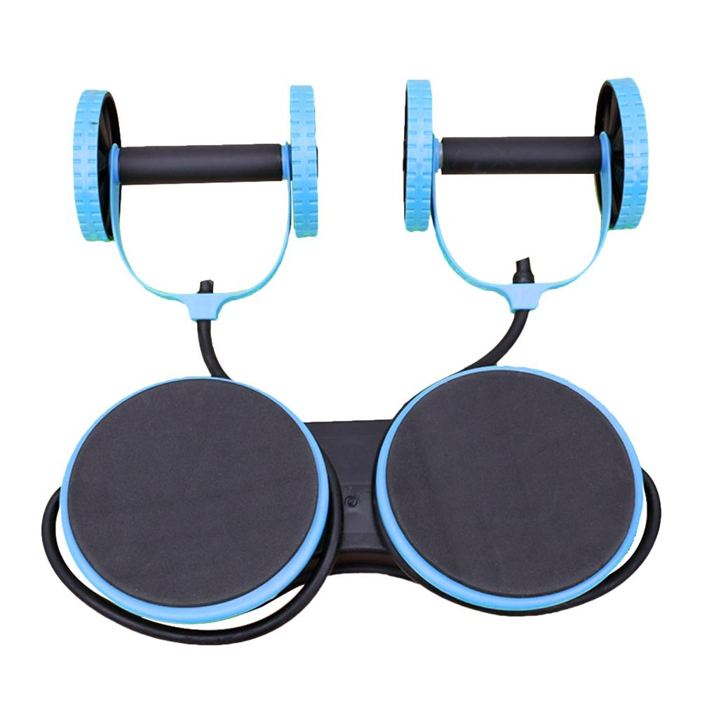 Multi-function Fitness Equipment Abdominal Wheel Two-wheel Abdomen Arm Tension Training For Sports Gym Home Twisting Machine image