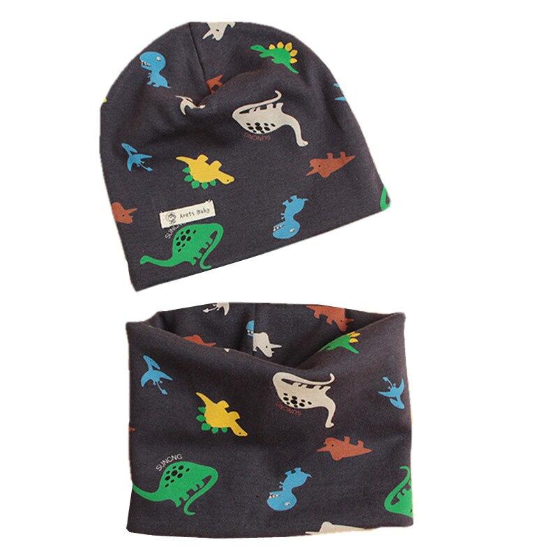 2020秋冬子供帽子スカーフセットベビー帽子ガールズボーイズキャップskulliesビーニー星漫画の男の赤ちゃんキャップ