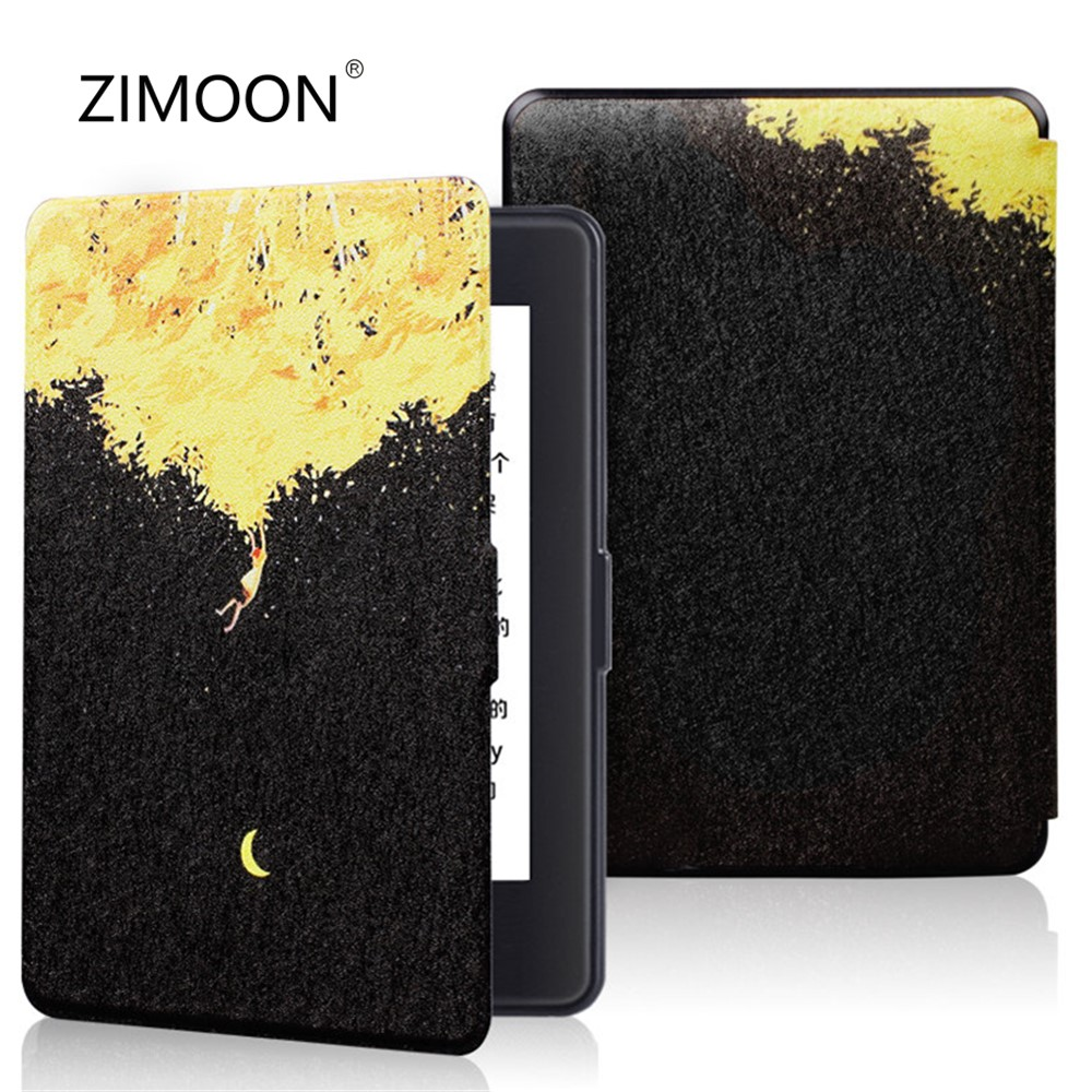 Print Case For Amazon Kindle 8th Gen 2016 Model Van Gogh Design Skin Flip Smart Cover 6' Tablet Cover E-book Case For Kindle 8th