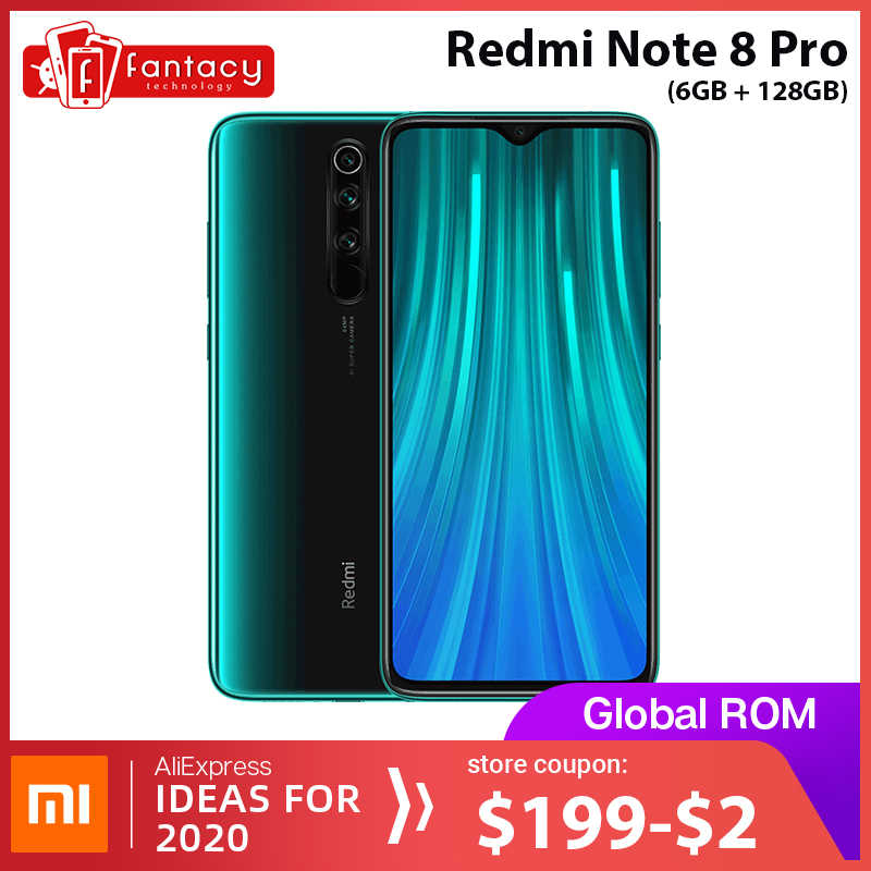 הגלובלי ROM Xiaomi Redmi הערה 8 פרו 6GB 128GB Snapdragon MTK Helio G90T 64 MP Quad מצלמות 7 ה דור QC 18W מטען טלפון