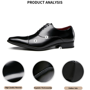 Image 2 - Merkmak Men Shoes 2020 New Spring Dress Shoes High Quality Business PU Leather Lace up Footwear Formal Shoes for Wedding Party