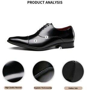 Image 2 - Merkmak erkek ayakkabısı 2020 yeni bahar elbise ayakkabı yüksek kaliteli iş PU deri dantel up ayakkabı resmi ayakkabı düğün için parti