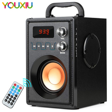 Bluetooth Speaker 20W Subwoofer Heavy Bass Wireless Stereo Outdoor Speakers Support Remote Control FM Radio TF Card LCD Display