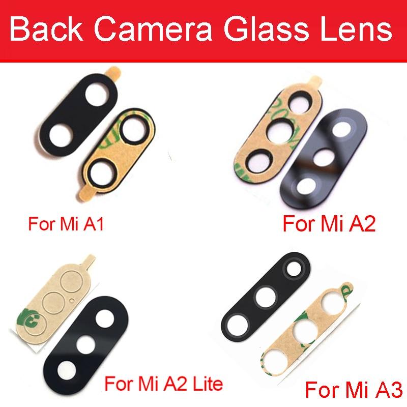 Rear Camera Glass Lens With Adhesive Sticker For Xiaomi Mi 5X 6X A1 A2 Lite A3 Redmi 6 Pro Back Camera Glass Lens Repair Parts