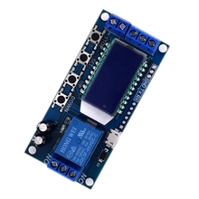 Micro Usb Digital Lcd Display Time Delay Relay Module Dc 6-30V Control Multifunction Timer Switch Trigger Cycle Module Board dc 12v multifunction self lock relay plc cycle timer module delay time switch board