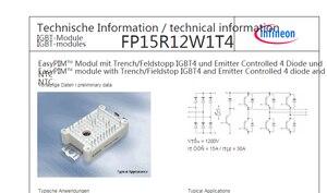 Image 2 - จัดส่งฟรีใหม่และต้นฉบับ FP15R12W1T4 โมดูล