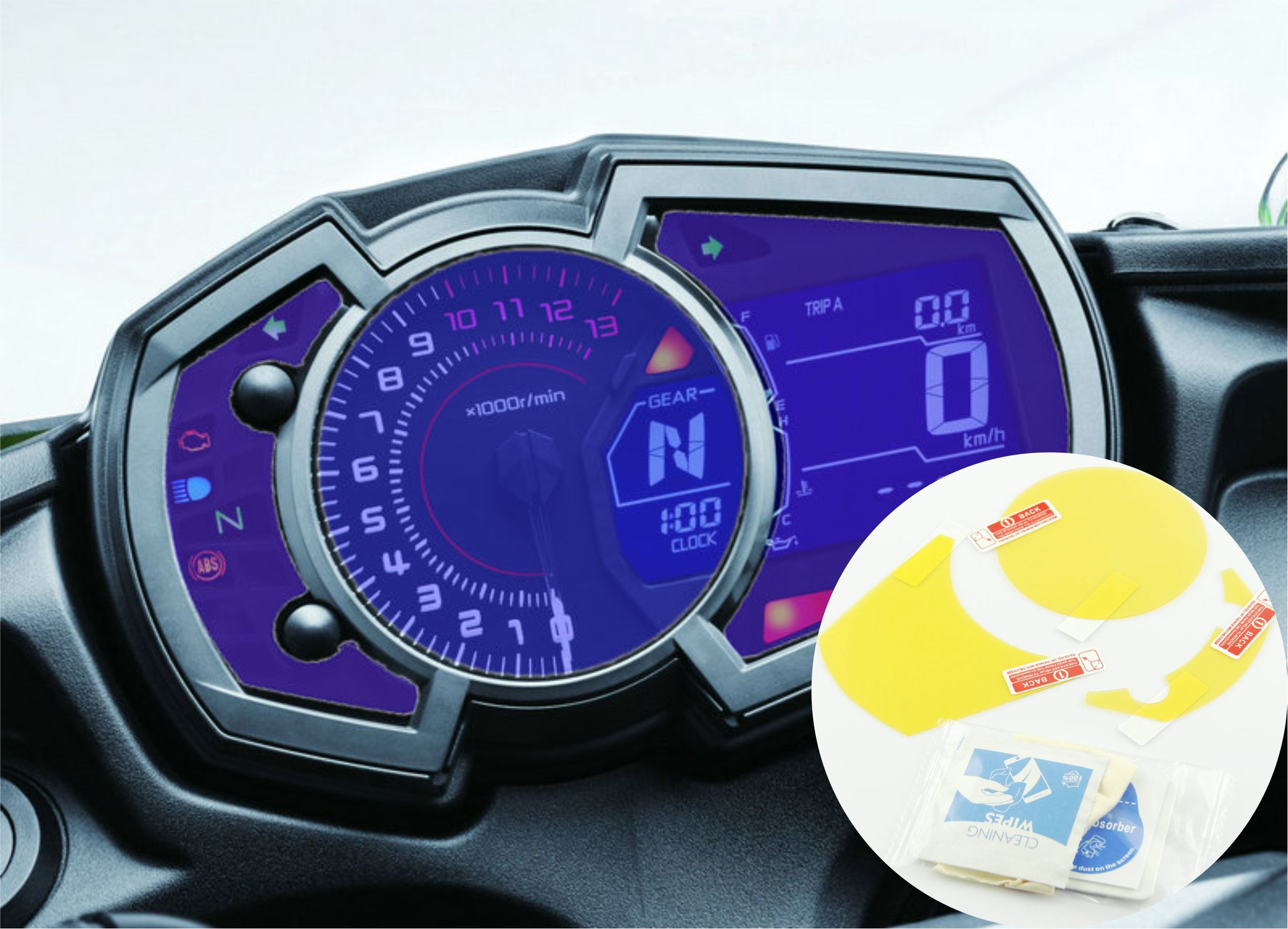 Cluster Scratch Protection Film Screen Protector For Kawasaki Ninja650 Ninja1000 Versys-X300 2017 Ninja400 Ninja250 Z1000SX
