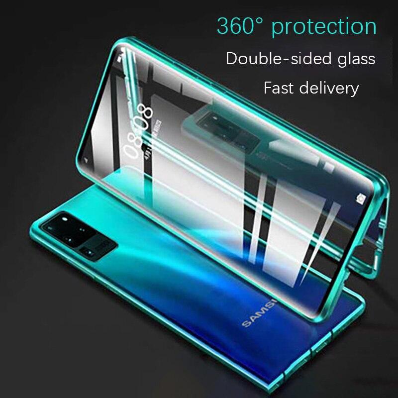 360 магнитный металлический чехол для Samsung Galaxy S20 S10 S9 S8 Plus S10E двухстороннее стекло для Note 10 8 9 Plus A51 A71 A50 A70 крышка| |   | АлиЭкспресс - Топ аксессуаров для смартфонов