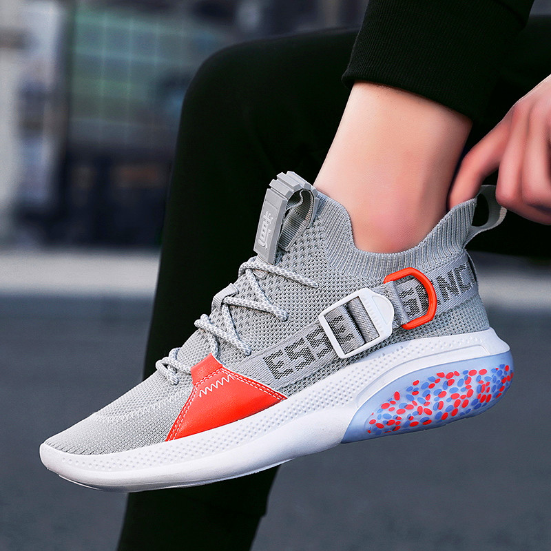 2020 New Men Running Shoes Masculin Zapatillas Deportivas Breathable Men's Shoes Woven Breathable Trendy Fashion Sneakers