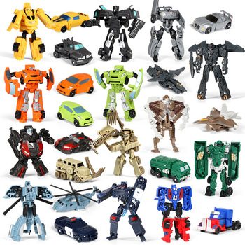 Mini transformation Cars Robot Toys Action Classic model Figure Toys mini version deformation King Kong For Children Boys Gifts