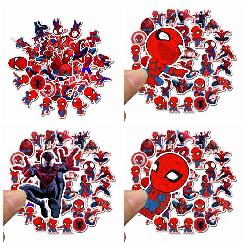 Stiker Paket Marvel Super Heroes Avengers Spider Man Scrapbook Koper Skateboard Laptop Graffiti Tahan Air Stiker Mainan Anak