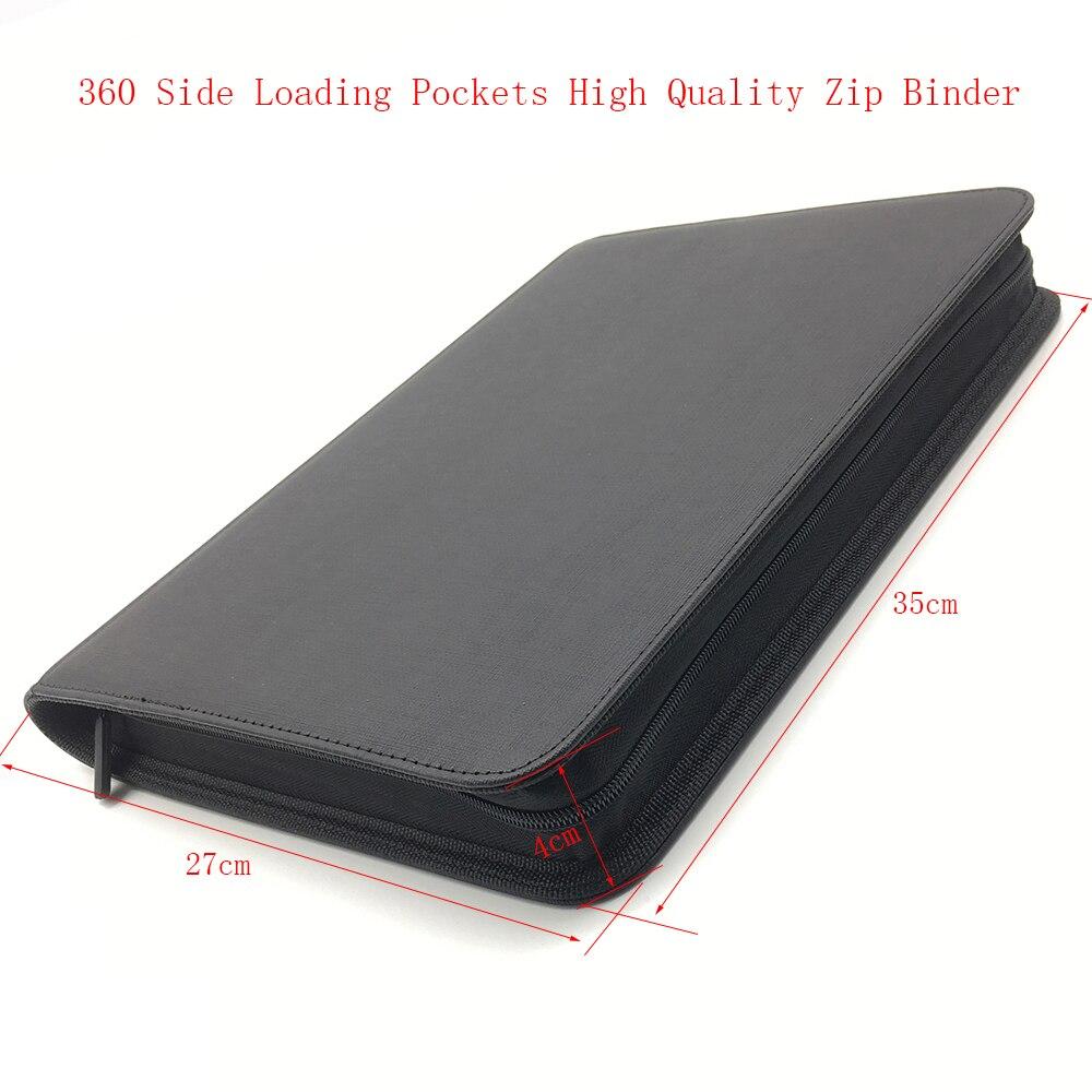 Alta qualidade 360 bolsos zip cartão de