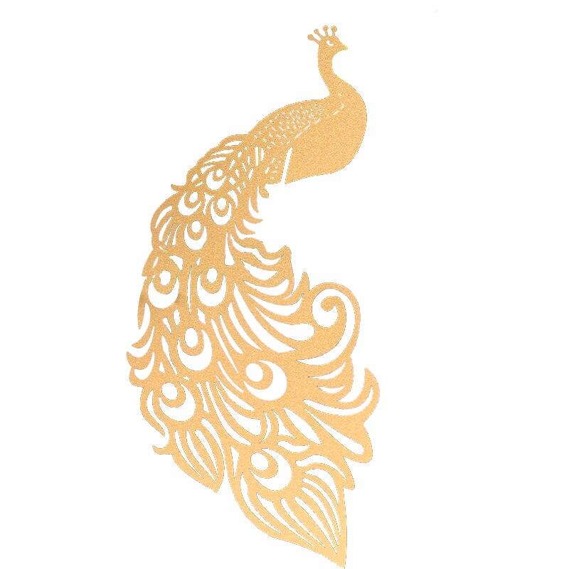 25 шт./лот лазерная резка Павлин вина стеклянная карта декоративная бумага для вечеринок Место Карты Свадебные украшения для винтажных свадебных сувениров - Цвет: Golden