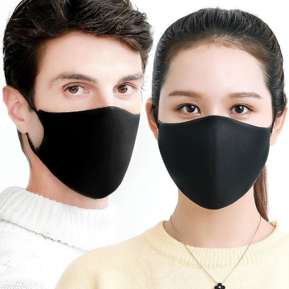 Winter PM2.5 Simple Cotton Mask Simple Unisex Black Cycling Anti-dust Breathable Mouth Face Mask Care