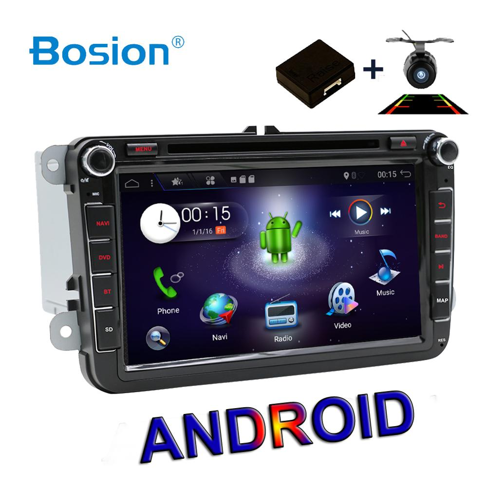 2 DIN 4 Core Android  Car DVD GPS SWC WIFI USB SD For Volkswagen GOLF 5 6 POLO TOURAN EOS PASSAT CC TIGUAN SHARAN SCIROCCO Caddy-in Car Multimedia Player from Automobiles & Motorcycles    1