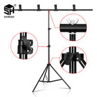 T-shape Background Stand Adjustable Telescopic Backdrop Frame Multiple sizes For Photography Studio Video Live Portrait Shooting