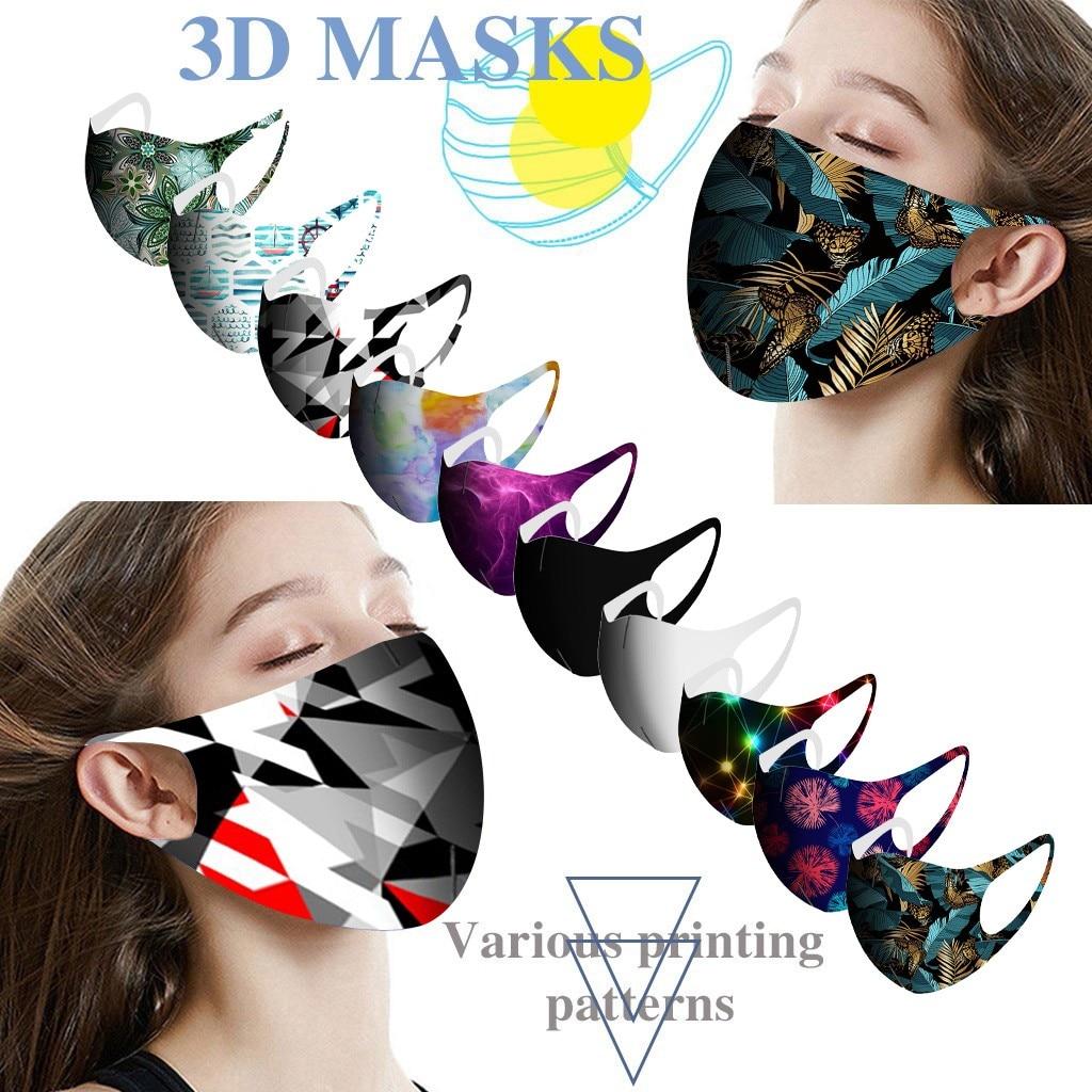 10 шт. многоразовая цветная маска для лица, цветной тканевый тюрбан для лица, стильная модная нейтральная фотомаска, защитная маска