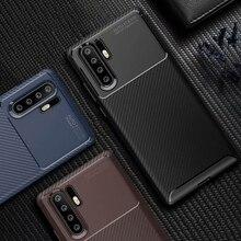 Fundas de teléfono de fibra de carbono para Huawei P30 Pro P20 Lite, funda blanda de silicona TPU a prueba de golpes para Honor 10 9 Lite, funda Coque