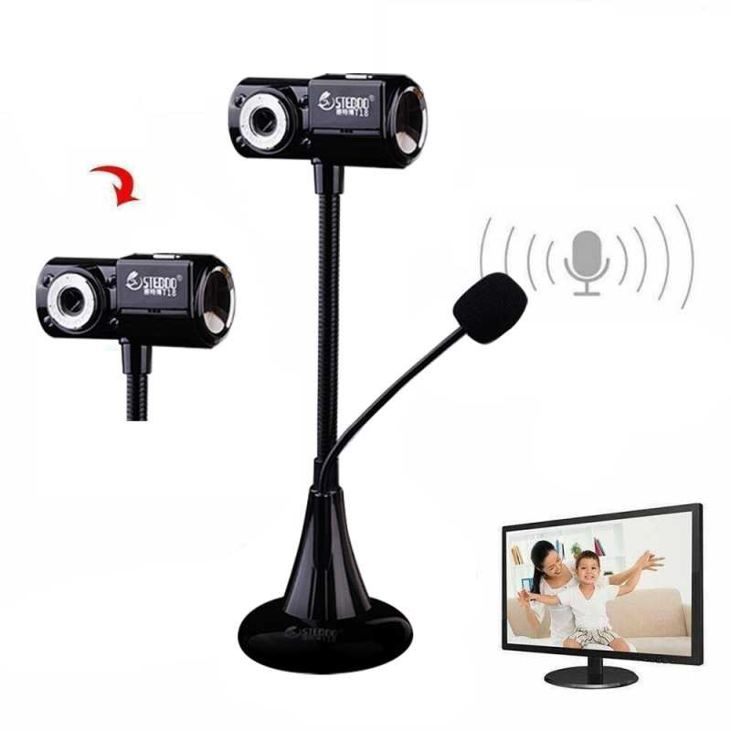 T18 HD USB 2.0 Webcam PC Camera Vertical WebCam Digital Video Web Camera With MIC For Computer PC Laptop For WIN10 8