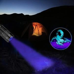 Image 4 - LED UV פנס אולטרה סגול אורות עם זום פונקציה מיני לפיד מנורת 365nm 395nm סגול אור להשתמש AA / 14500 סוללה מופעל