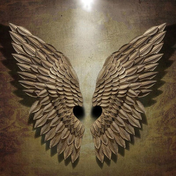 American Retro Angel Wings Wall Hanging Bar Iron Wall Decoration Clothing Shop Shooting Prop Loft Wall Decorations Wings Props