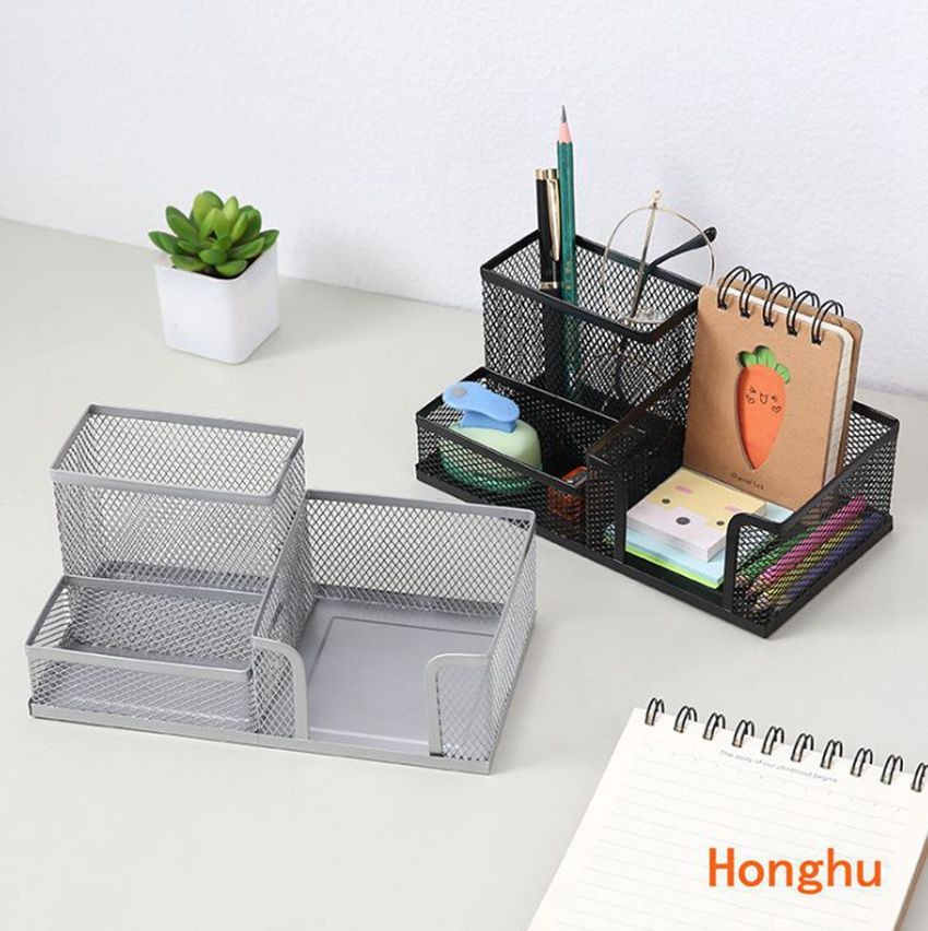 Multifunctional Combination Creative Metal Wrought Iron Pen Holder Student Stationery Desktop Office Storage Box