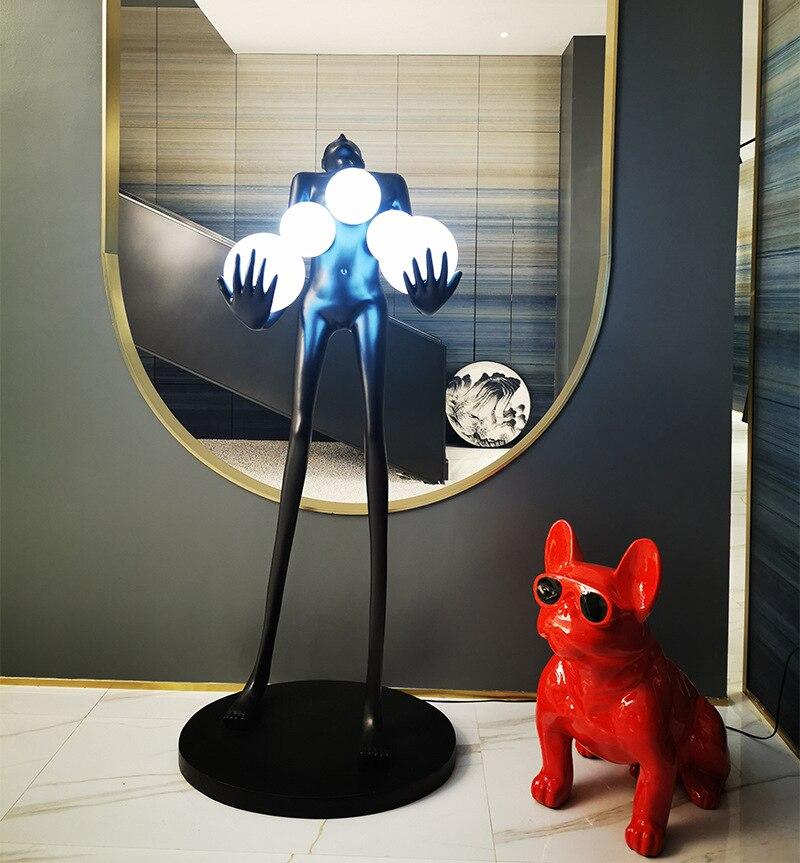 Designer Villa Woman Sculpture Floor Lamp - Lamps & Lighting