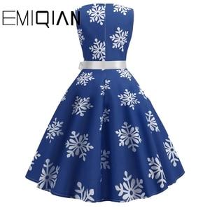 Image 2 - Fashion Women Floral Print Sleeveless Party Dress Simple Knee Length Print Graduation Dress