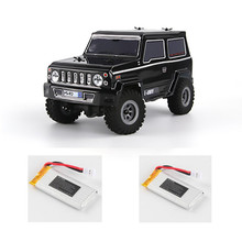 URUAV RC Car 1:24 4WD 2.4G Mini Radio Control Car Crawler Model Vehicle Waterproof RTR Version RC Car Kids Toys with Two Battery