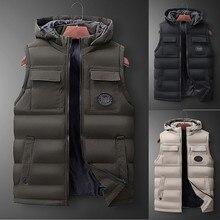 Новая модная мужская Осенняя зимняя куртка для альпинизма с капюшоном, однотонная верхняя одежда, жилет, куртка, топы, блузка