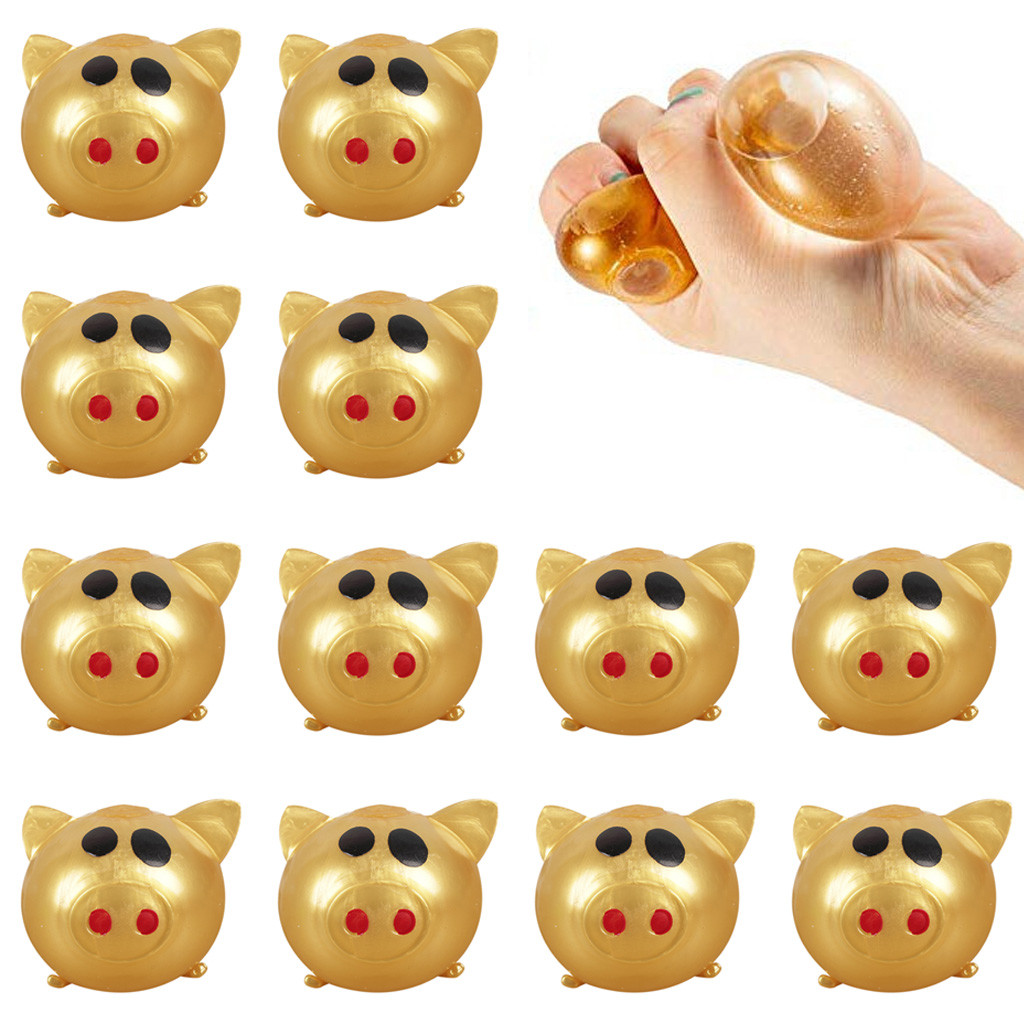 12Pcs Pig Cute Anti Stress Splat Water Pig Ball Vent Toy Venting Sticky Pig Kids Toys Decompression Brinquedos Juguetes игрушки