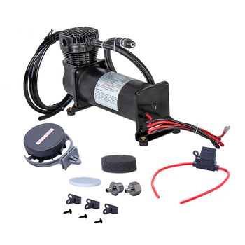 цена на Universal 12V 480c Air Compressor kit 200 PSI OUTLET 3/8 or 1/4 car Air Suspension Compressor/ Pump with Relays Switch accessory