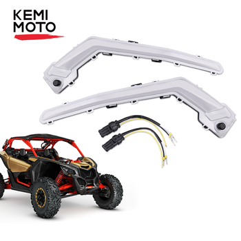 KEMIMOTO Front Signature Light Assembly with Flashing Light for Can Am Maverick X3 XDS XRS Max Turbo R 2017-2019 2018