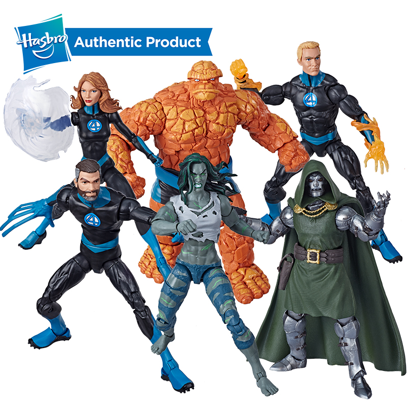 Hasbro Marvel Universe Heroes Four Wonderful Legends Mr Fantastic Stealth Woman Flashlight Thing Doctor Doom Action Figure Set