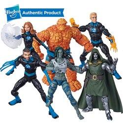 Hasbro Marvel Universe Heroes Four Wonderful Legends Mr Fantastic Stealth Woman Flashlight Thing Doctor Doom Action Figure Set