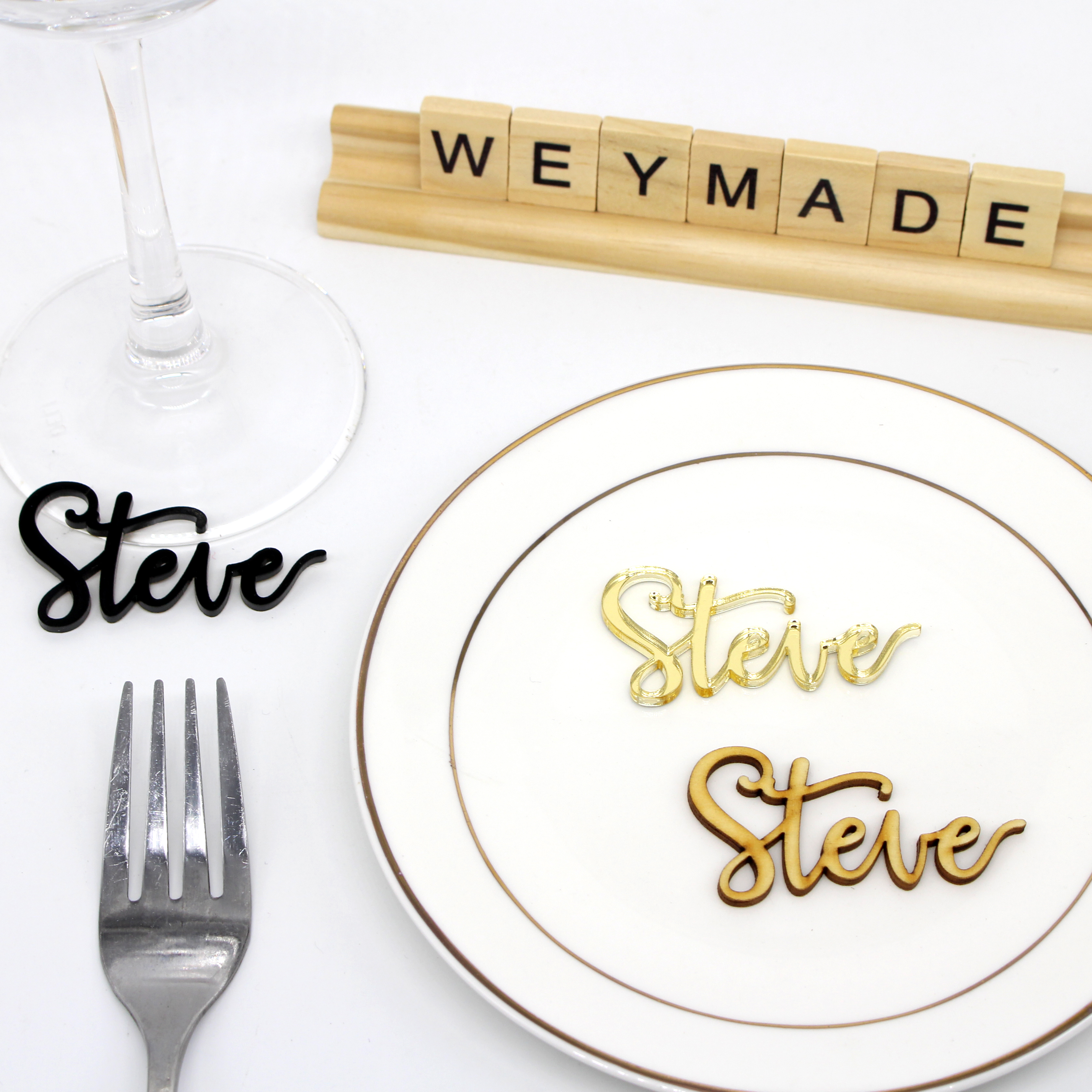 Guest name Wedding Place name settings Wedding guest name Table names Personalized Guest Name Wedding signs Personalized place cards