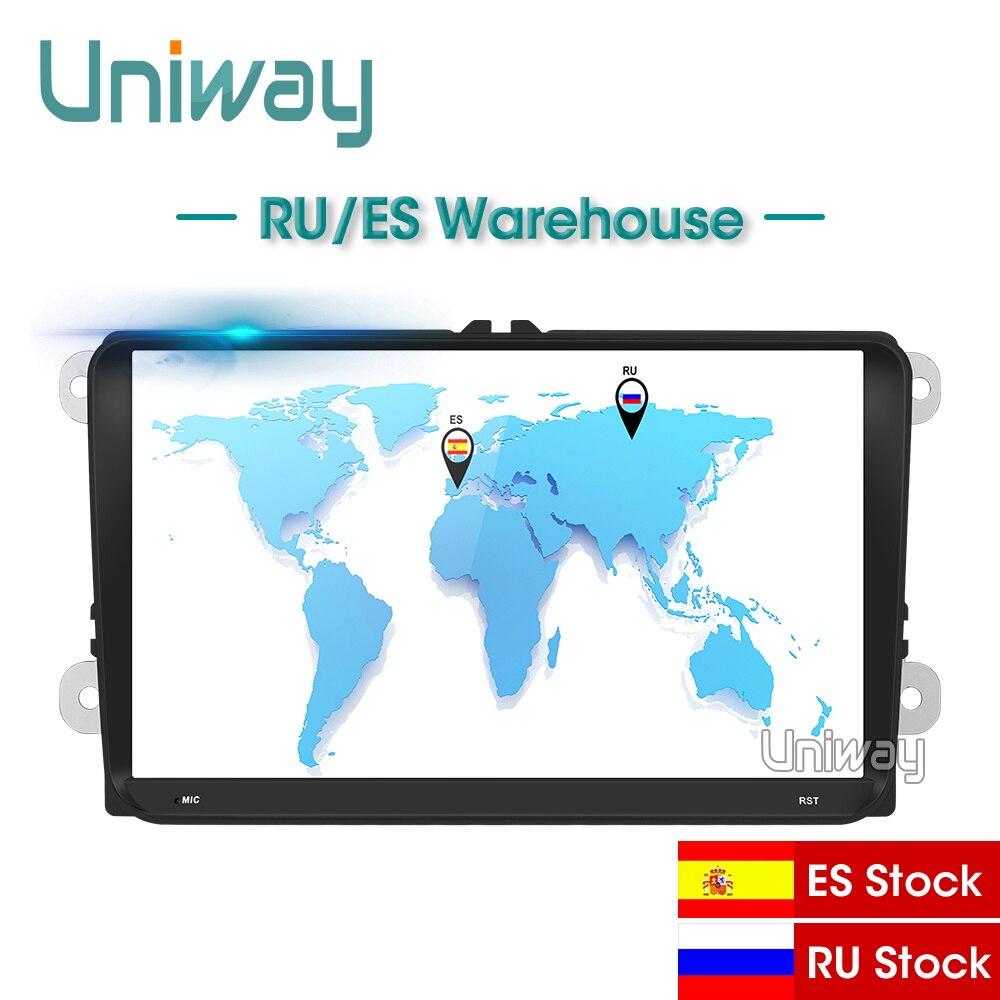 Uniway ADZ9071 Octa Core IPS dvd dell'automobile per il vw passat b6 b7 golf 5 6 tiguan polo octavia rapid fabia lettore multimediale di navigazione