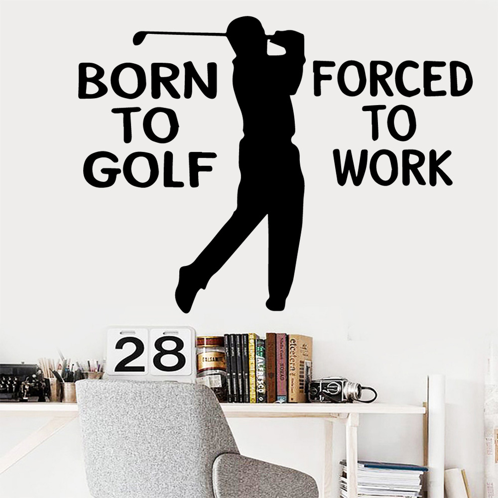 Carved Golf Wall Stickers Animal Lover Home Decoration Accessories Decor  Living Room Bedroom Removable Decal Mural