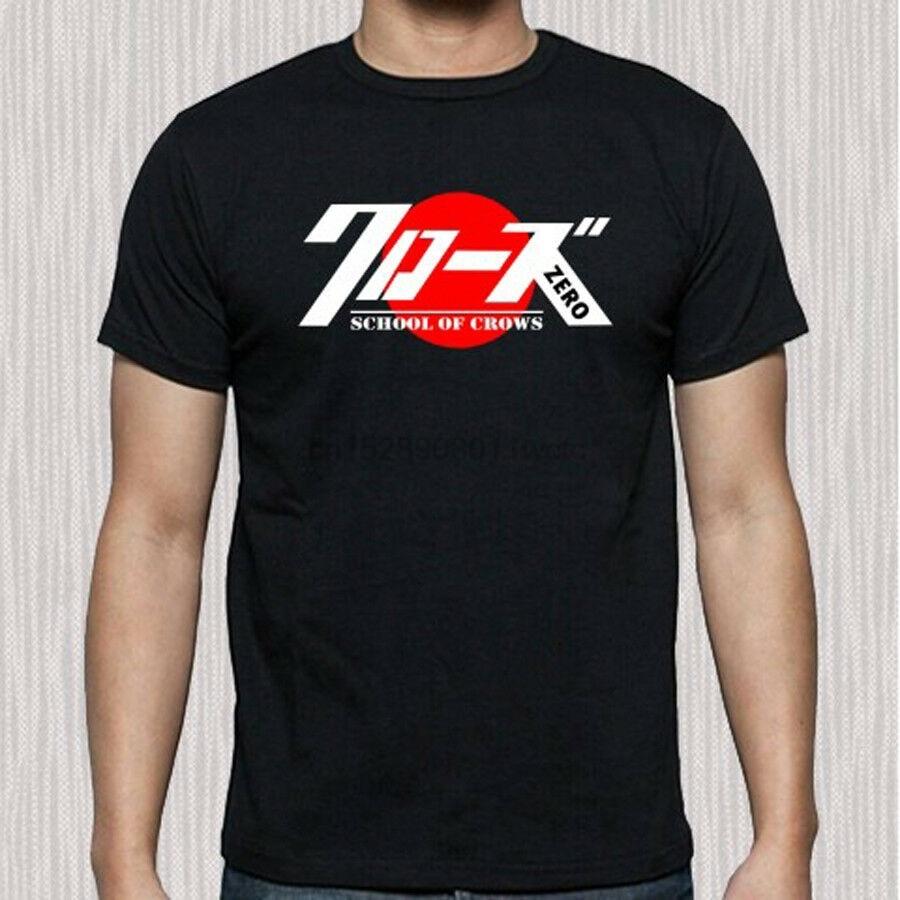 Crows Zero Action Movie Japan Symbol Men/'s Black T-Shirt Size S to 3XL