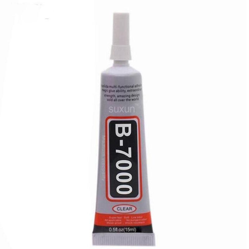 1pc B7000 15ml Best Multi Purpose Glue Adhesive Epoxy Resin DIY Crafts Glass Touch Screen Cell Phone Super Glue B7000 Nail Gel