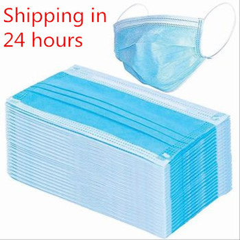 10 Pcs 3 Layer Protective Mouth Face Masks Disposable Face Mask Anti-Dust Anti-fog Protective Fold Filter Safety Masks