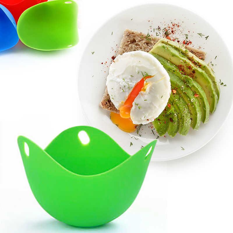 Odporne na ciepło elastyczne woreczki na jajka Food Grade jajo silikonowe kłusownictwo kubek pasuje do gotowania na parze kuchenka mikrofalowa narzędzia kuchenne