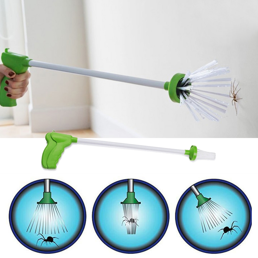 Critter Catcher Hand-Held Insect Catching Spider Trap Artifact Insect Grabber Travel Friendly Humane Trap Pest Control Tools