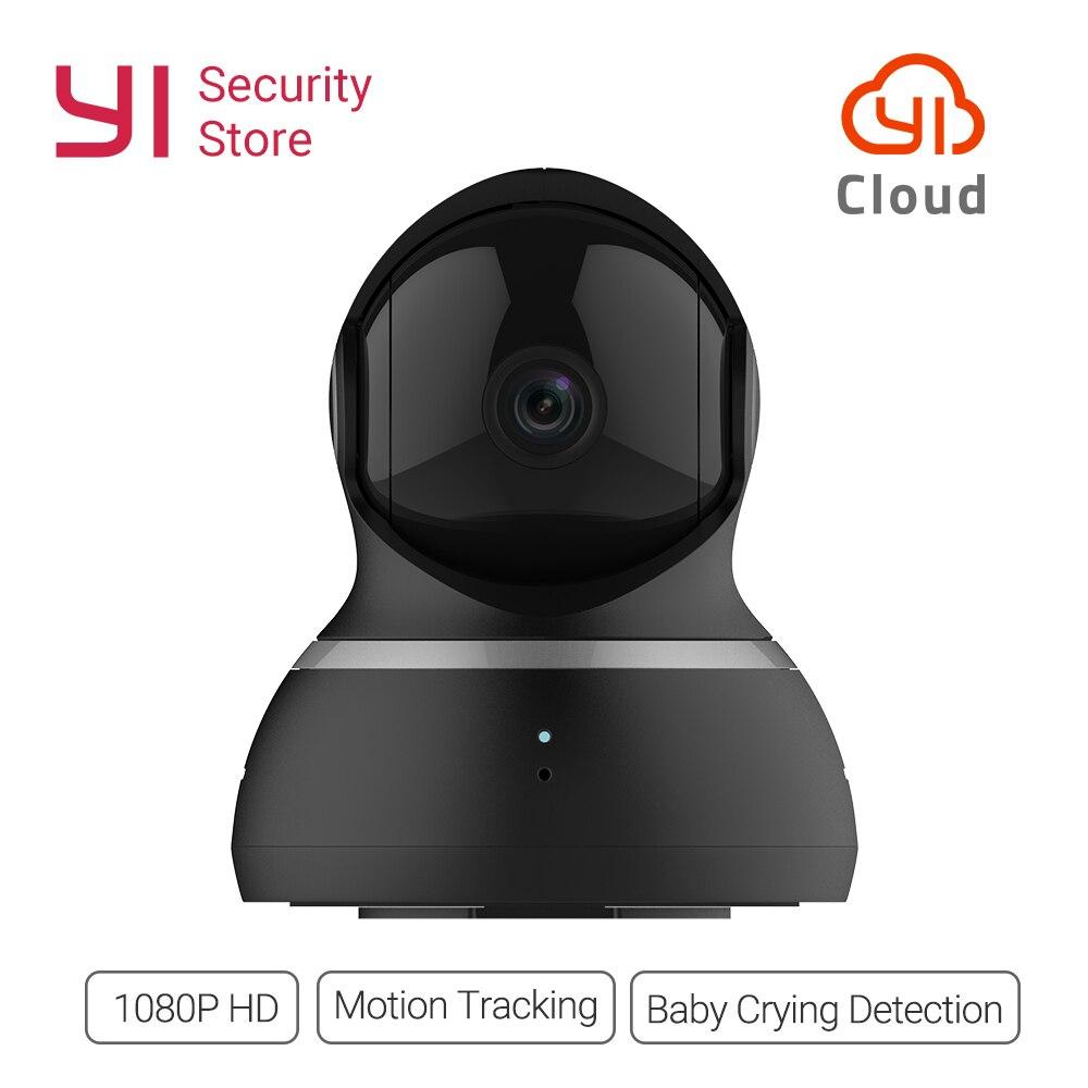 Yi dome câmera 1080 p visão noturna ip sem fio sistema de vigilância segurança em casa cobertura de 360 graus pan/tilt/zoom versão global
