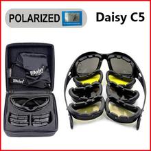 Sportowe polaryzacyjne okulary przeciwsłoneczne Daisy C5 X7 taktyczne wojskowe okulary mężczyźni polowanie pistolety do airsoft gogle 4 soczewki okulary turystyczne tanie tanio X7 C5 Ochrona przed promieniowaniem UV Tactical Eyewear Sport Sunglasses Black Plastic Grey Yellow Transparent Copper