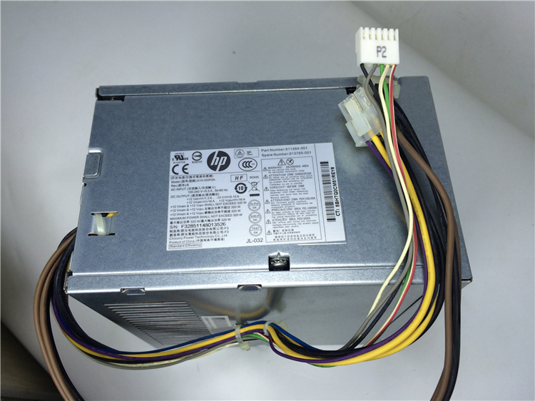613764-001 611483-001 For 6300 Pro Elite 8300 MT 320W Power Supply