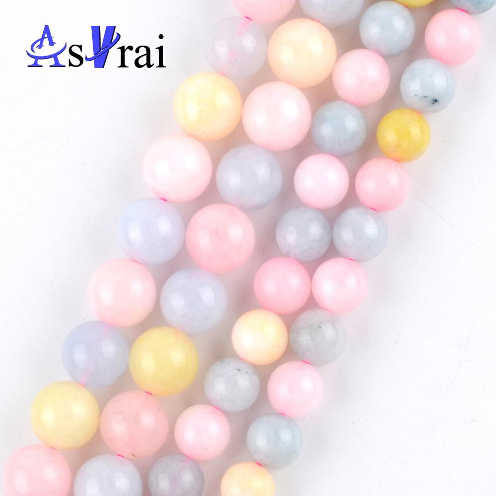 10pcs Acrylic Round Column Beads Clear Spacer Fit DIY Jewelry Beaded Findings