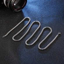 3 mm steel color necklace Titanium accessories Fashionable man couples jewelry