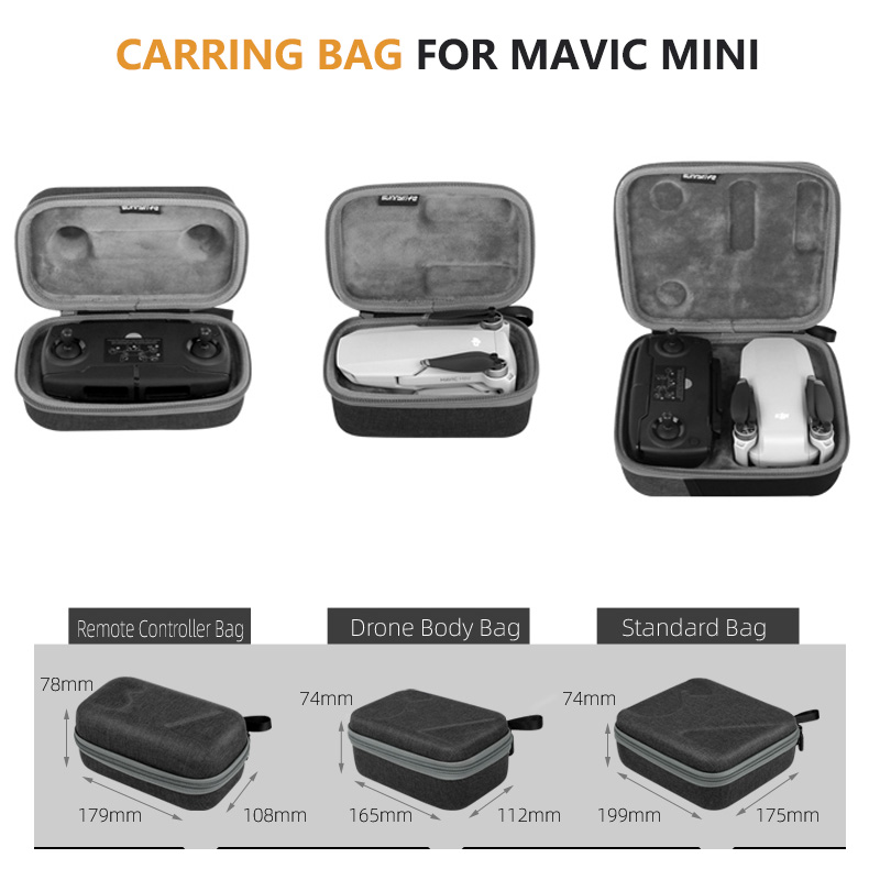 Durable Portable Drone Body Housing Bag Protective Case and Transmitter Remote Controller Storage Box Set for DJI Mavic Pro for DJI Gopro Action Camera